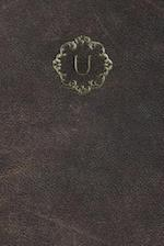 Monogram U Meeting Notebook