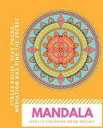 Mandala Adults Coloring Book Mosaic