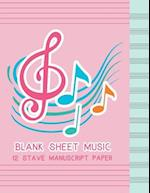 Blank Sheet Music 12 Stave Manuscript Paper
