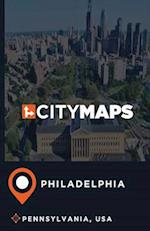 City Maps Philadelphia Pennsylvania, USA
