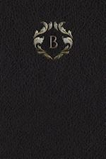 Monogram B Meeting Notebook