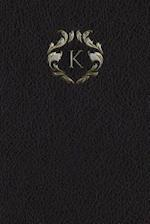 Monogram K Meeting Notebook