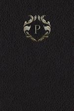 Monogram P Meeting Notebook