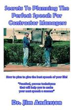 Secrets to Planning the Perfect Speech for Contractor Managers