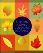 Autumn Leaves Colorful Journal