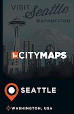 City Maps Seattle Washington, USA