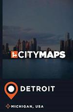 City Maps Detroit Michigan, USA