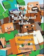 Minecraft Coloring Book for Kids and Adults