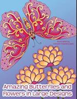 Amazing Butterflies and Flowers in Large Designs