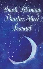 Brush Lettering Practice Sheet Journal