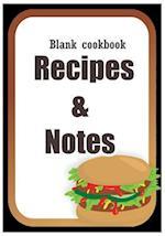 Blank Cookbook, Recipe Book, Journal Book, Cookbook, Cook Notebook