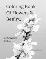 Coloring Book of Flowers & Bee's