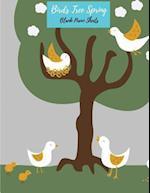 Birds Tree Spring Blank Piano Sheets