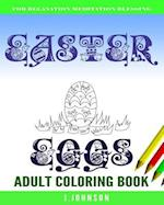 Easter Eggs Adult Coloring Book