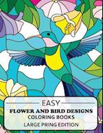 Easy Flowers Designs Large Print Edtion