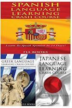 Spanish Language Learning Crash Course + Greek Language Learning Crash Course + Japanese Language Learning Crash Course
