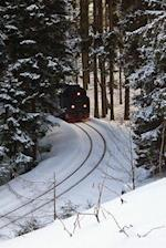 Train Coming Around the Bend in the Mountains on a Winter Day Railroad Transportation Journal