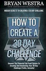 How to Create a 30 Day Challenge