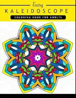 Easy Kaleidoscope Coloring Book for Adults