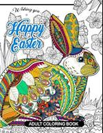Happy Easter Adult Coloring Book