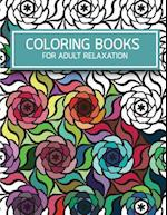 Flower Pattern Doodles Coloring Books for Adult Relaxation