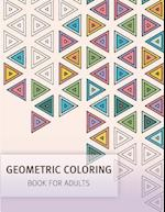 Geometric Coloring Easy Pattern for Adult and Grown Ups