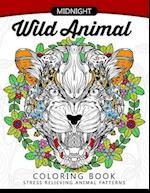 Midnight Wild Animal Coloring Book