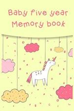 Baby Five Year Memory Book