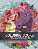 Big Book of Horse Flowers Decorative Adult Coloring Book