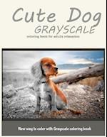 Dog Grayscale Coloring Book for Adults Relaxation