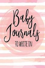 Baby Journals to Write in
