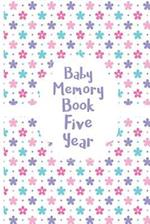 Baby Memory Book Five Year