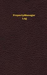Property Manager Log (Logbook, Journal - 96 Pages, 5 X 8 Inches)