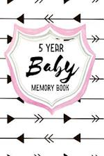 Five Year Baby Memory Book