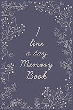 1 Line a Day Memory Book
