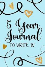5 Year Journals to Write in
