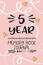 5 Year Memory Book Journal
