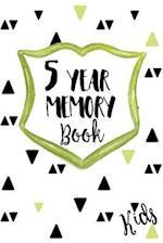 5 Year Memory Book Kids