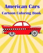 American Cars Cartoon Coloring Book