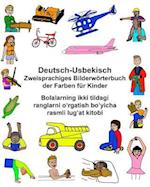 Deutsch-Usbekisch Zweisprachiges Bilderworterbuch Der Farben Fur Kinder