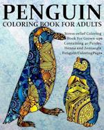 Penguin Coloring Book for Adults