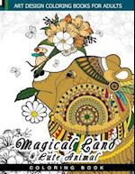 Magical Land and Cute Animal Coloring Book