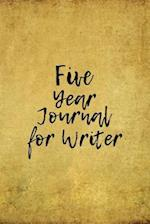 Five Year Journal for Writer