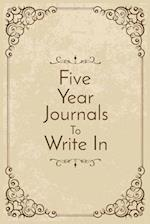 Five Year Journals to Write in