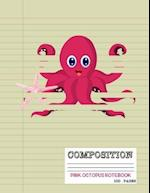 Pink Octopus Notebook