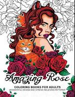 Amazing Rose Coloring Books for Adults af Adult Coloring Book