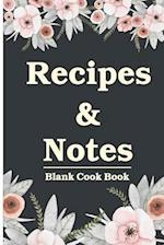 Blank Cook Book Recipes & Notes