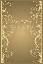 Note a Day Journal 5 Year