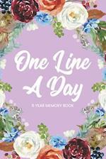 One Line a Day 5 Year Memory Book