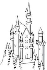 Journal Castle Sketch Black White Fairy Tale Medieval Historical